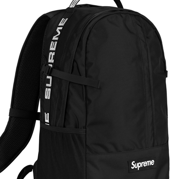 06e90b335293 Supreme Backpack (SS18) Black Authentic